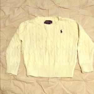 Polo by Ralph Lauren cream cable kit sweater